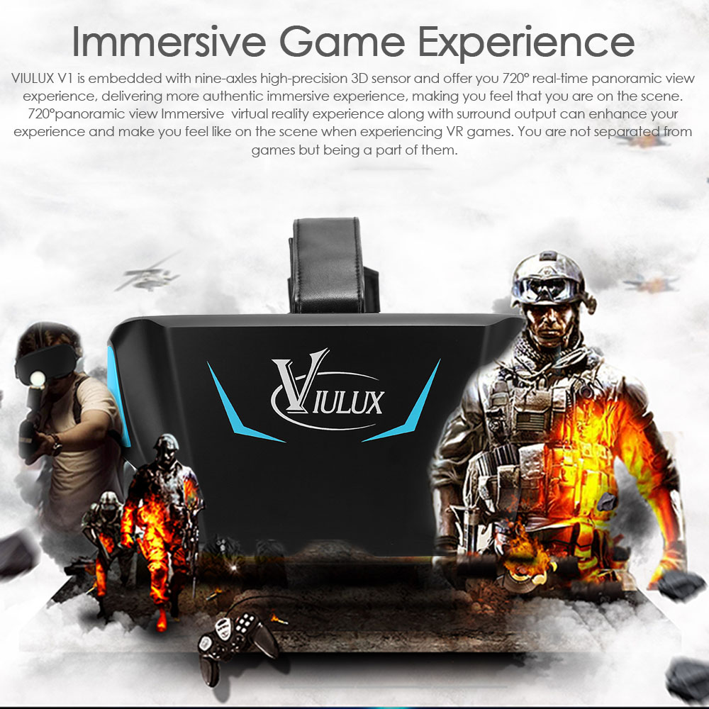 "VIULUX V1 Virtual Reality 3D Glasses VR Headset VR Box Game Movie 1080P 5.5""OLED Display Screen w/HDMI USB for Computer Notebook(China (Mainland))"