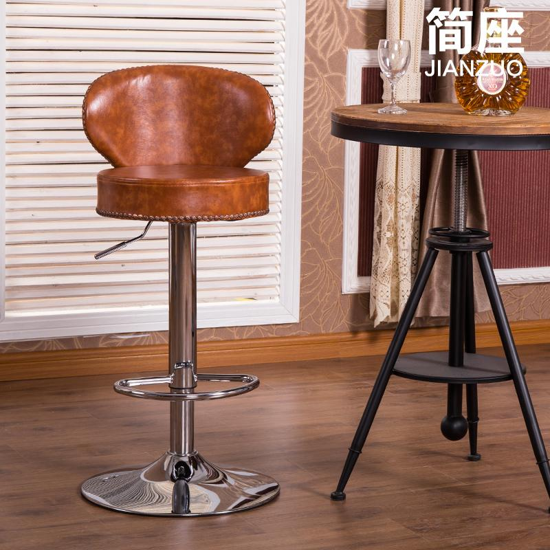 vintage leather bar stool 2
