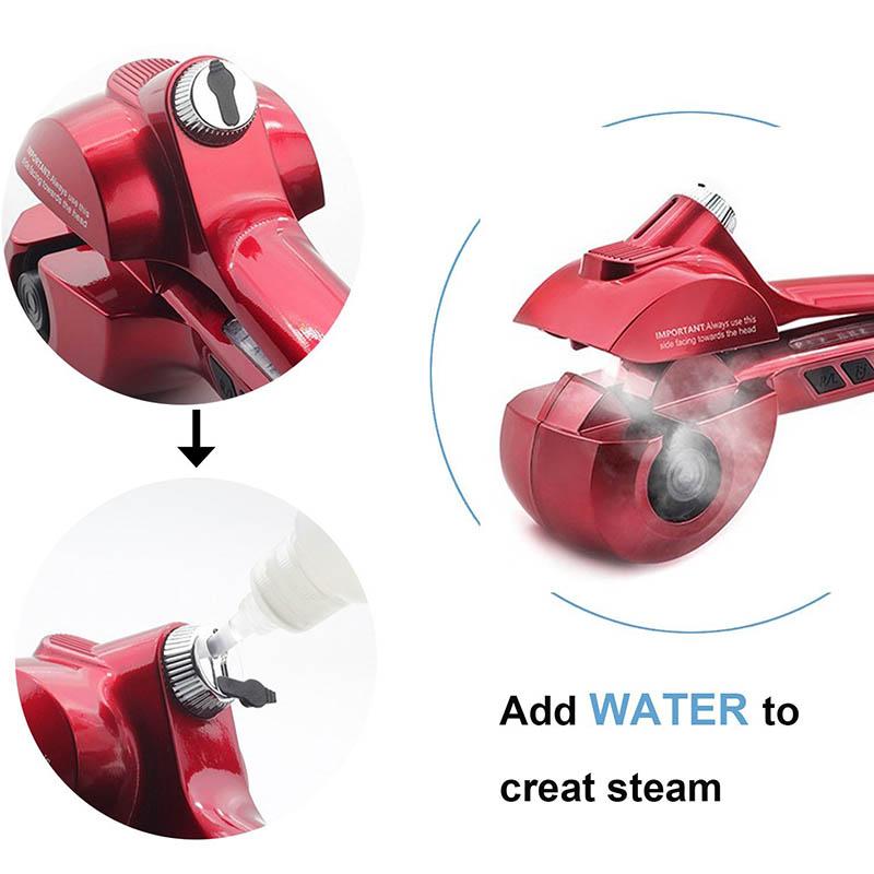 2017 Auto Hair Steam Hair Curler Wave Hair Roller Magic Curling Iron Hair Styler Titanium Styling Tools(China (Mainland))
