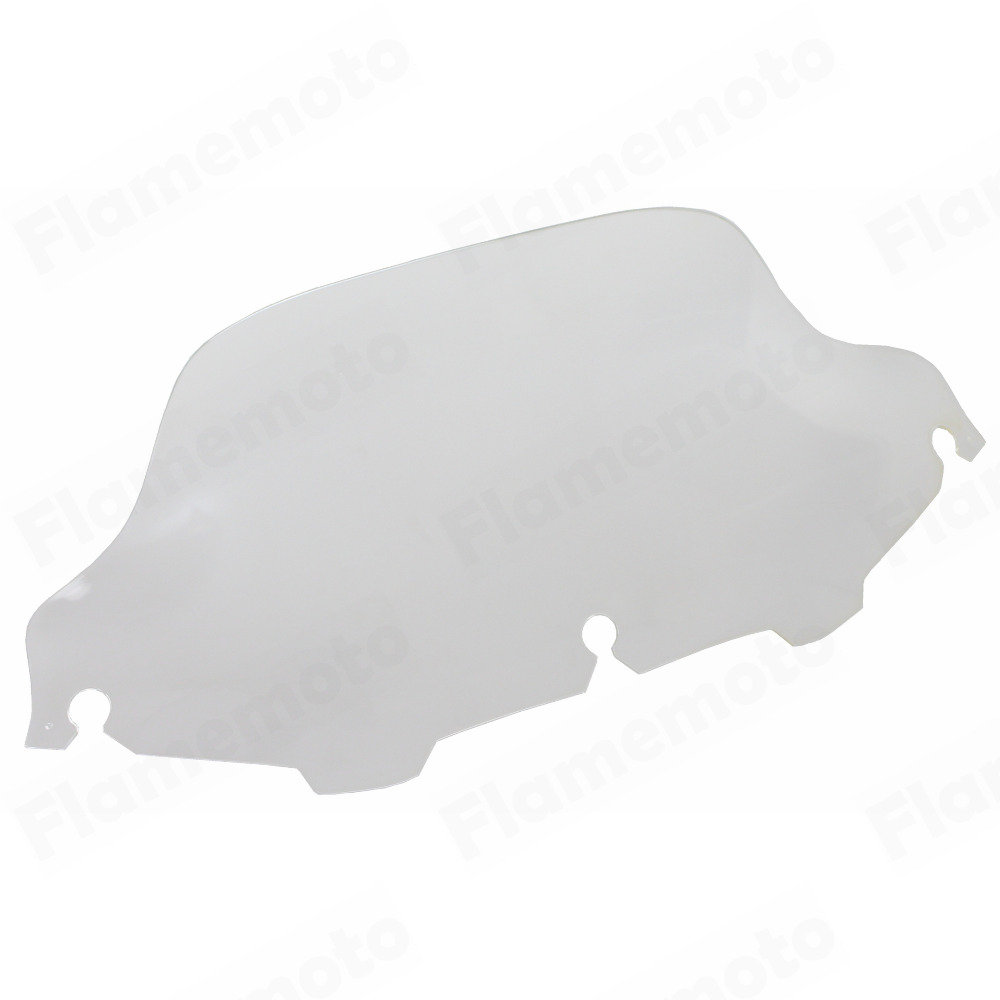 Motorcycle Clear 8 Wave Windshield Windscreen 4 Harley Touring Electra Street Tri FLHX FLHT FLHTC 1996