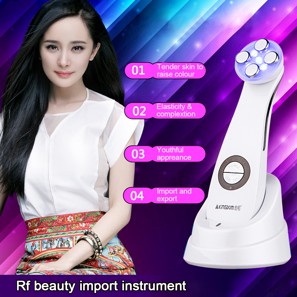 Led Photon ultrasonic facial massager Skin Care Cleaner Anti Aging Wrinkle Remover Beauty Massager(China (Mainland))