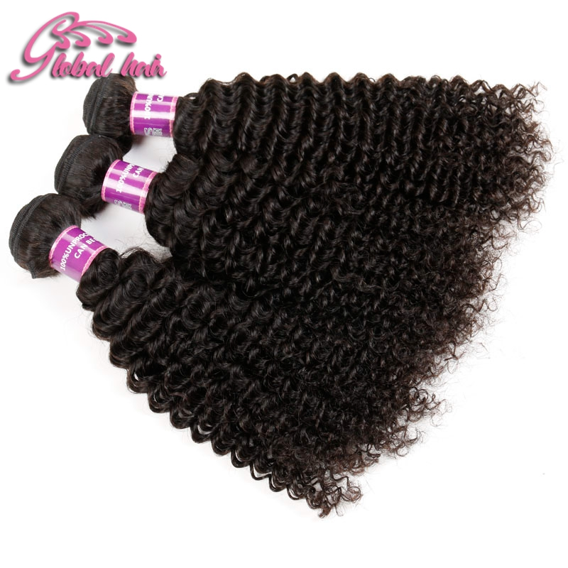 Vip Beauty Hair Kinky Malaysian Virgin Hair 3 Bundles Unprocessed 7A Malaysian Virgin Hair Deep Curly 100% Human Hair Weaving