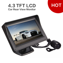 Best Price New Arrival Super Quality 4.3 TFT LCD Car Rear View Monitor + CMOS Waterproof Night Vision Reverse Camera(China (Mainland))