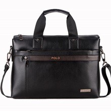 Men's PU leather Briefcase Fashion Handbags for Man Sacoche Homme Marque Male Bag for A4 Documents Black XB114-B(China (Mainland))