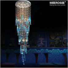 Luxury Crystal Ceiling Decorative Light Fixture Long Large Modern Ceiling Lamp GU10 for staircase Lustre, Hotel Stair Lamp(China (Mainland))