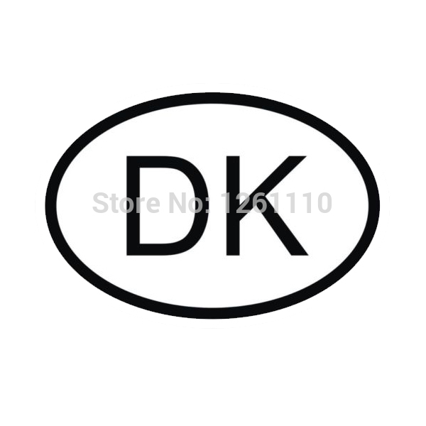 40 pcs/lot DK DENMARK COUNTRY CODE OVAL Waterproof Car Stickers 40 pcs/lot Car Stylings For All Cars Bumper Window<br><br>Aliexpress