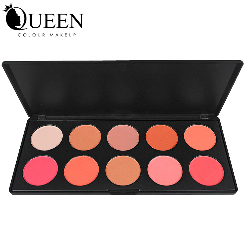 Professional 10 Colors Makeup Cosmetic Blush Blusher Face Powder Palette For Blush Makeup AB10B(China (Mainland))