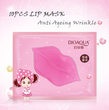 10PCS Crystal Lip Mask Lips Plumper Pads Hydrating Moisture Essence Anti Ageing Wrinkle Patch Lip Care
