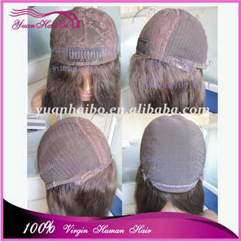 Top 6a quality 12-30inch #1b silk straight mongolian Silk Top Kosher Wigs virgin jewish wigs free shipping