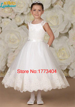 Vestido de Daminha 2016 Lovely Flower Girl Dress For Wedding Lace Edge Little Kids Pageant Dress Plus Size Custom Made Handwork(China (Mainland))