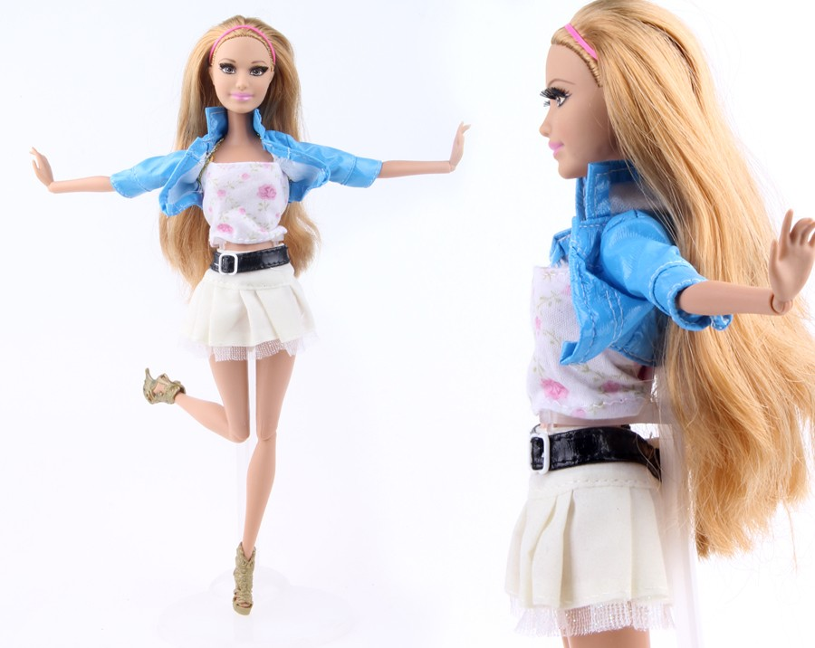 Randomly Decide Garments A Lot = 10 Units Vogue Girl Outfit Put on Shirt Trousers Shorts Pant Skirt Garments for Barbie Doll