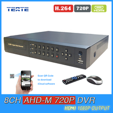 Buy 8ch CCTV System 8 channel AHD 720P 1.0mp 25fps real time recording HDMI 1080P Hybrid H.264 AHD-M recorder NVR TET-G08D7PB05 for $75.53 in AliExpress store