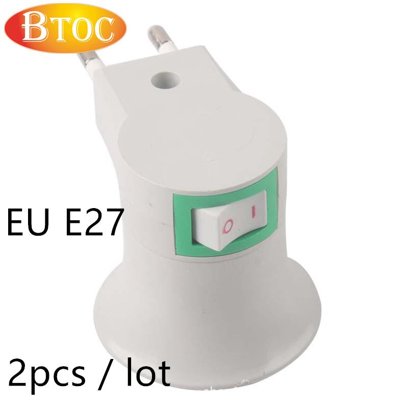 High quality E27 screw lampholders bulb holder European standard plug socket lamp bases E27 lamp plug 2 pcs / lot ree shipping(China (Mainland))