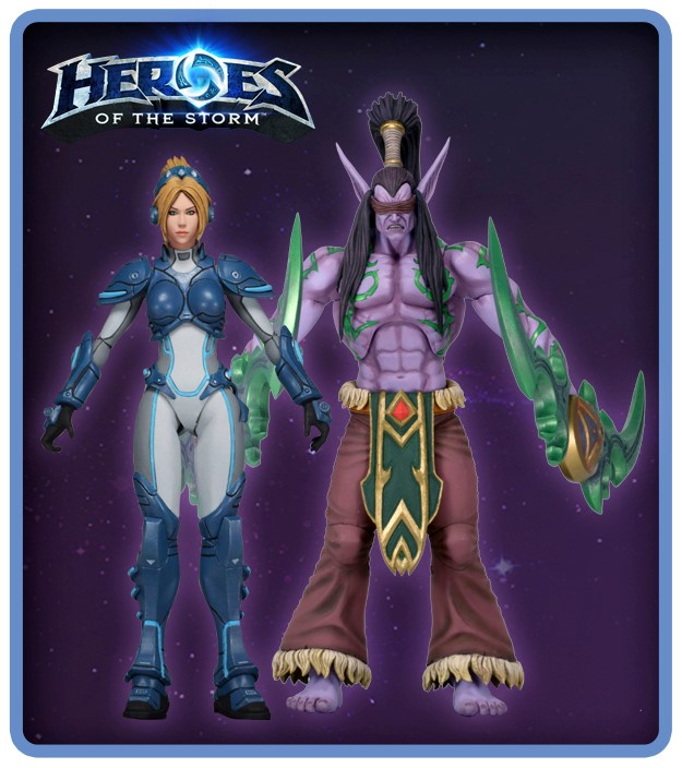 Game Heroes Of The Storm cool Nova Tyrael Arthas Illidan 15cm PVC Action Figure Collectible Model toy NEW(China (Mainland))