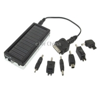 SALE 1350mAh Solar Charger for Mobile phone, Digital camera, PDA, MP3 & MP4 Player , Mirror on the back. (0.4W)