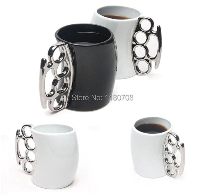 Гаджет  Fisticup Brass Knuckle Duster Handle Coffee Milk Ceramic Mug Cup Fist Cup Gift None Дом и Сад