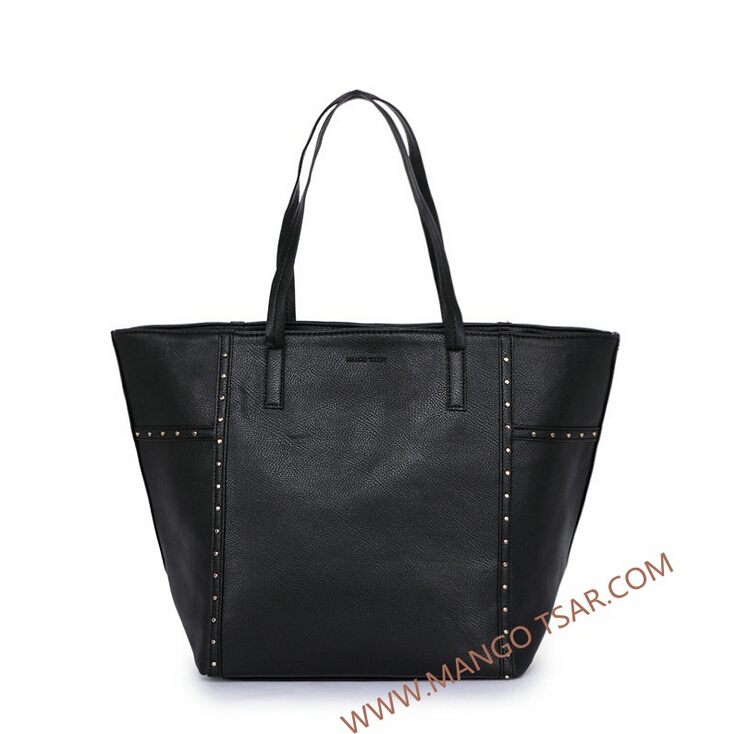 New arrival lady composite genuine leather shoulder handbags set,European and American rivet PU women casual tote bags<br><br>Aliexpress