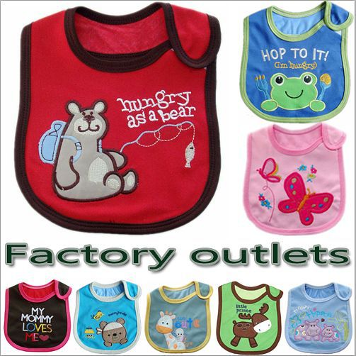 60pcs,Super cheap factory outlet/lot Baby bib Infant saliva towels/carter's 3-layer Baby Waterproof bib/free shipping