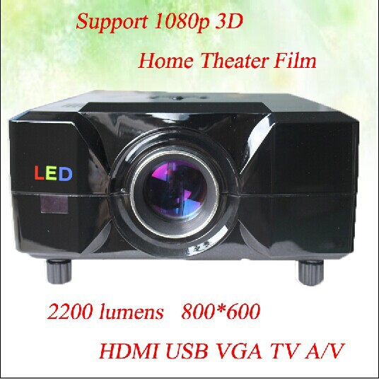 Dont Hesitate !!Native 4:3 Switch Freely 16:9 2200 Lumens 800*600 Resolution With HDMI USB Interface Support 3D 1080p Projector<br><br>Aliexpress