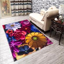 120 X 180CM Colorful 3D hd Vivid Print Floor Carpet Fur Rugs and Tapis Novelty Home Decoration Carpets For Living Room Carpet(China (Mainland))