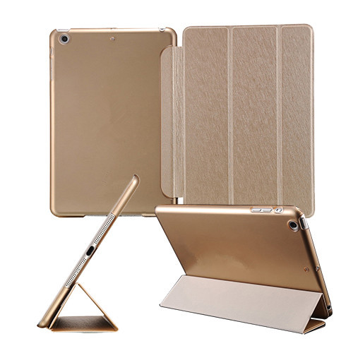 Slim Smart Cover Apple iPad Air 9.7 inch Stand Function Case PU Front Plastic Back Black White Champagne Gold Drop Ship - BOB Technology Co.,Ltd store