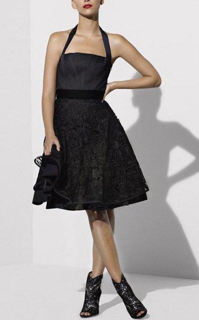 2012Elegant  Black Swans of Cool Britannia style embroidered hanging neck dress,banquet dinner dress