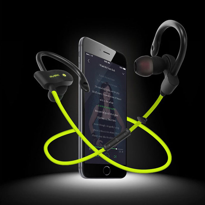 Professional Wireless Sport Bluetooth Earphone Bluetooth 4.1 with Mic Noise Cancelling Headset Original English Music Earbuds(China (Mainland))