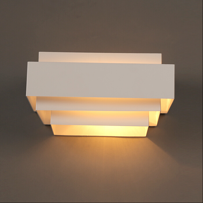 modern wall lamp white multilayer structure dining room