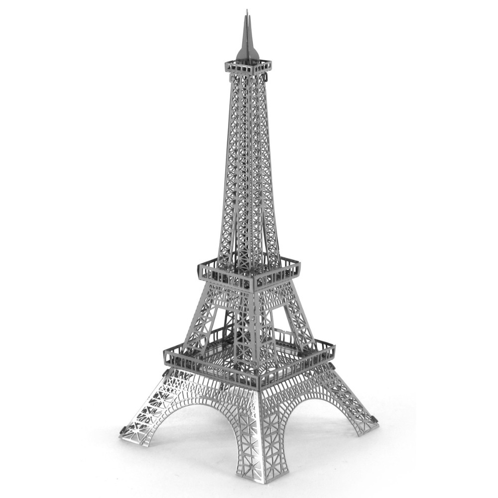 Lowest Price High Quality Metallic Steel For Nano Intelligence 3D Eiffel Tower Jigsaw Puzzle Model No Glue Toy Gift For Kid(China (Mainland))
