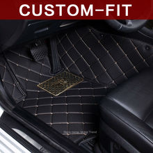 Custom fit car floor mats Infiniti EX QX50 EX25 EX30D EX35 EX37 3D car-styling leather accessories carpet liners (2007-)