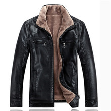 Winter leather jackets Men Faux Fur Coats casual motorcycle leather jacket Thicken Outwear Overcoat For Man large size 5XL A0322(China (Mainland))