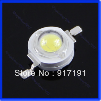 Free Shipping 50pcs/lot High Power 1W LED SMD Light Chip Energy Saving Lamp Beads Bulbs For DIY White