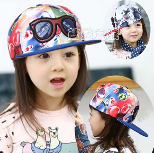 New Fashion Print Kis Baseball Cap Child Flag Snapback Baby Hat Hip Hop Adjustable Caps For Children Unisex Casual hats(China (Mainland))