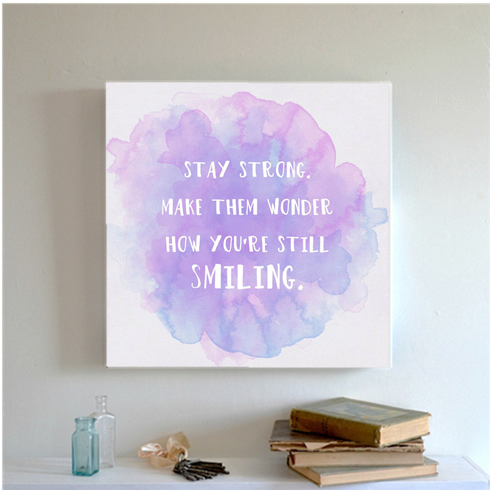 Azqsd watercolor minimalist motivational colorful quotes for Large colorful wall art
