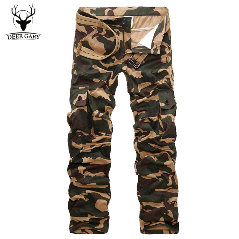 High Quality 2016 New Fashion Men Cargo Pants Multi-pocket Decoration Casual Camouflage Male Autumn Pants Men Trousers M-3XL(China (Mainland))