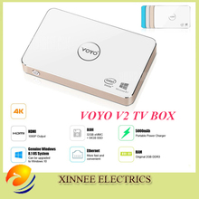 Windows 10 Mini PC with 5000mh Battery Voyo V2 Mini PC Windows TV Box 4K HDMI resolution With WiFi(China (Mainland))