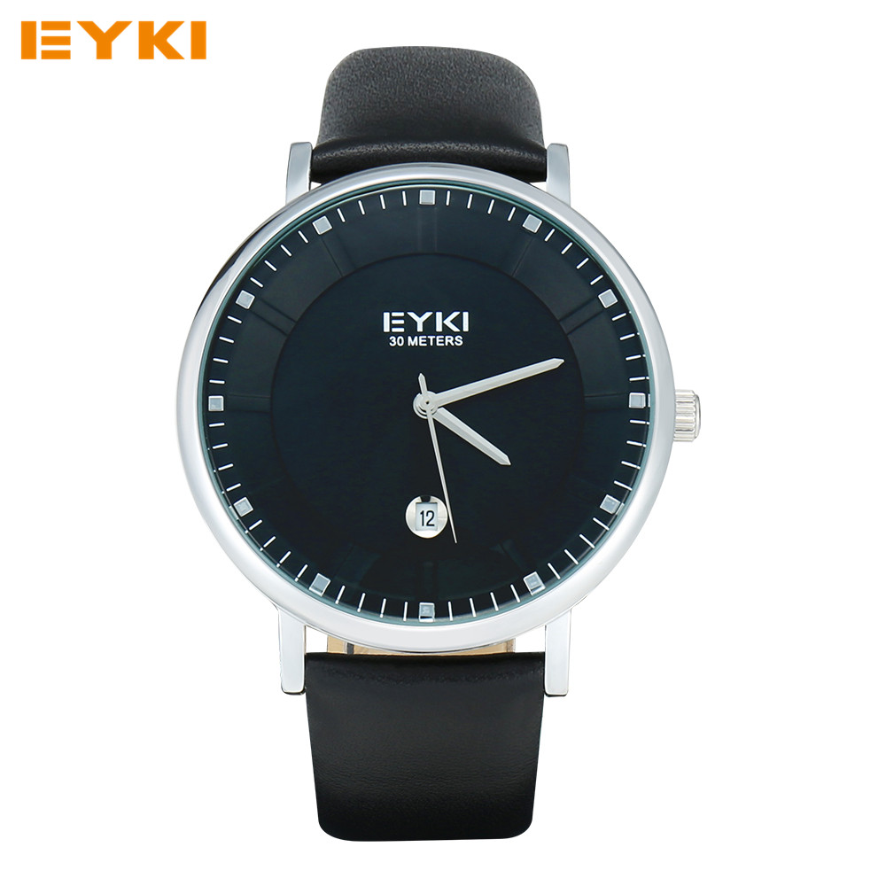 EYKI Mens Watches TOP Brand Luxury Famous Leather Strap Men's Quartz Watch Waterproof Wrist Watches For Men Relojes Hombre 2016(China (Mainland))