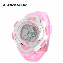 Relogio Feminino moda de mujer silicio banda de caucho reloj deportivo Digital resistente al agua reloj de pulsera w / reloj + Snooze – rosa ( 1 x 626 )