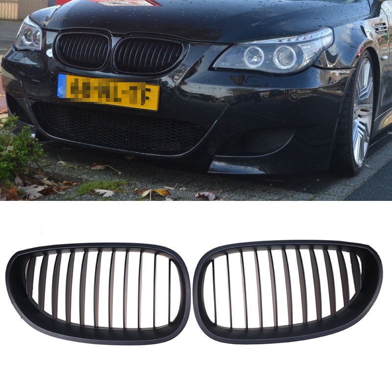1 Pair Matte Black Front Kidney Racing Grills Grille For