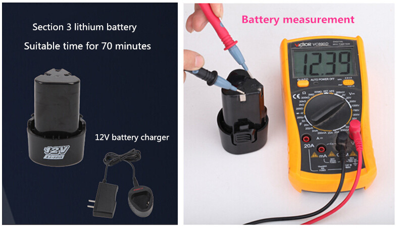 12V Lin ion Cordless Screwdriver With 27pcs Drills Two speed Hand Electric Drill Power Tools Portable