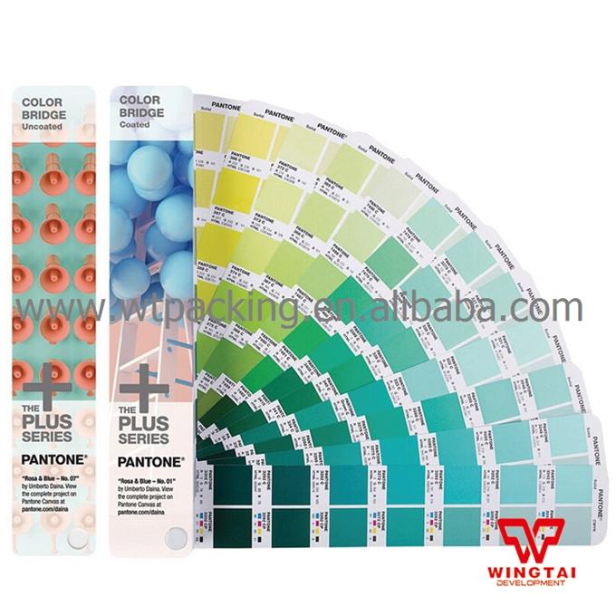 2016 Newest GP6102N PANTONE COLOR BRIDGE Coated & Uncoated Set Fabric color books(China (Mainland))