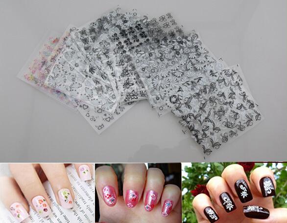 Гаджет  new 50 sheet x 3D design tip nail art nail sticker nail decal manicure mix random color flower None Красота и здоровье