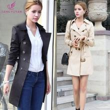 Autumn Winter Women Long Trench Coats 2015 Fashion Casual Double Breasted Women's Overcoat Outwear Abrigos Mujer Dropshipping