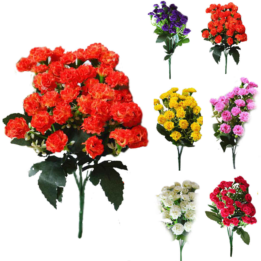 2018 wholesale fashion artificial silk flowers carnation 30 buds getsubject aeproduct mightylinksfo
