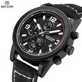 MEGIR Men Chronograph Waterproof Multifunction Casual Watch Function Dial Genuine Leather Auto Date Watch Relogio Masculino