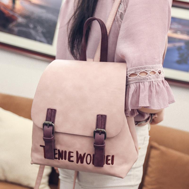 LEFTSIDE brand 2016 new small simple stylish solid rucksack back packs women backpacks famous designer school bag for girls(China (Mainland))