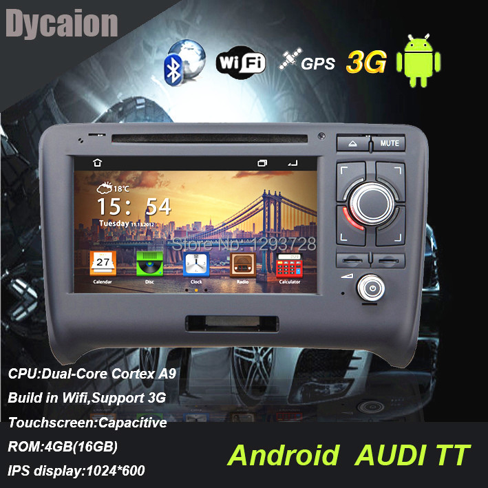 Touch screen car dvd player gps for AUDI tt/Support IPOD Bluetooth Radio FM tv rearview camera/For AUDI tt gps nav(China (Mainland))