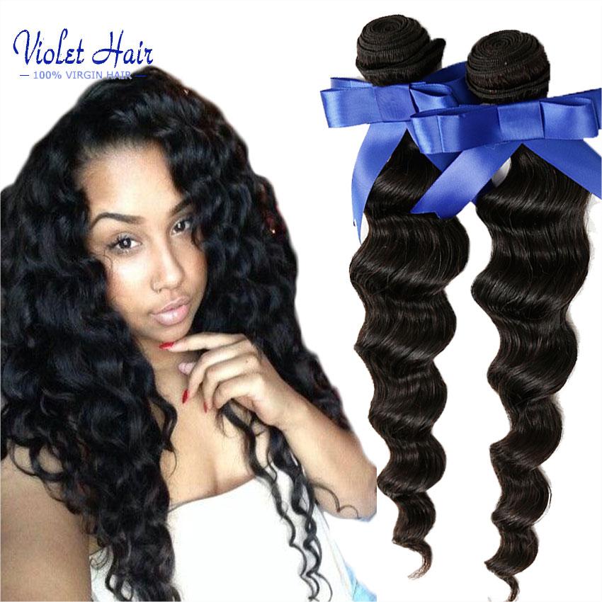 Natural Hair 6A Indian Virgin Hair Loose Wave Bundles 4pcs 100 grams/bundle 100% Real Human Hair Weaves More Wavy Msbeauty hair <br><br>Aliexpress