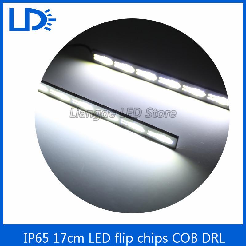 2Pcs/set metal housing LED COB DRL Daytime Running Light Waterproof 12V External Led Car Styling Car Light Source Fog Lamp(China (Mainland))