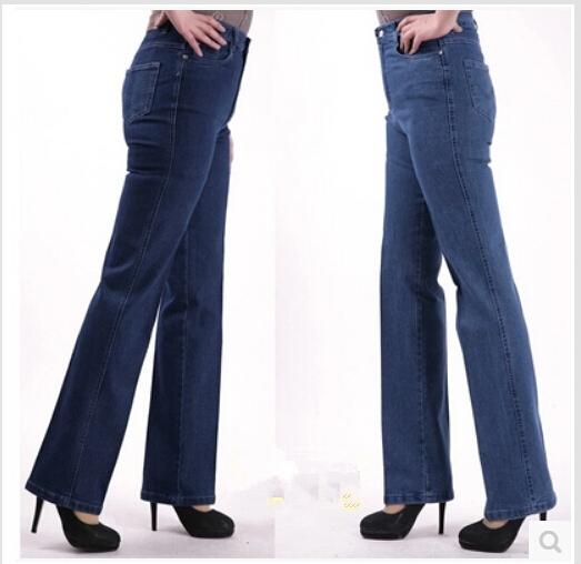2015 Женщины Повседневный Straight Джинса Plus Размер Джинса Female Джинса Trousers ...